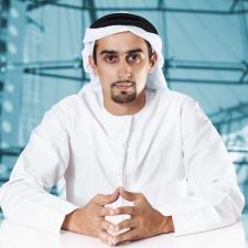 Confident Arab businessman