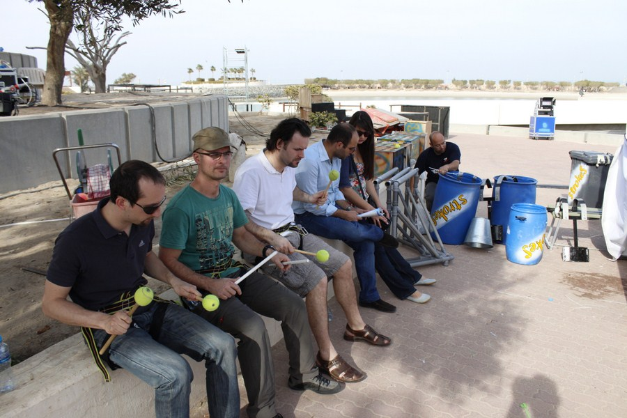 Strokes Percussion Group in Kuwait | Funky Business